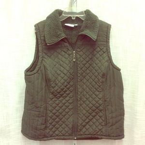 Denim & Company Hunter Green Vest Size XL